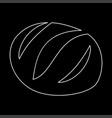 bread white color icon vector image