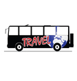 bus travel color vector image