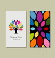 business card design with art tree vector image
