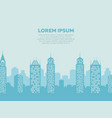 city landscape background - poster with downtown vector image