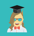 graduating young woman vector image