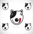images of Bull terrier face vector image