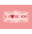 Love heart copy vector image