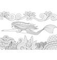 mermaid 9 vector image