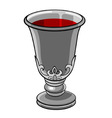silver goblet with wine vector image