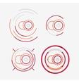 Thin line neat design logo set camera concept vector image