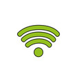 wifi symbol of digital internet connection vector image