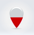 Poland icon point for map vector