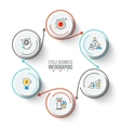 Circles with arrows strokes for infographic vector image