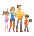 Family characters set cartoon design vector image