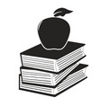 apple on the books vector image vector image