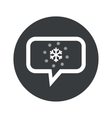 Round snow dialog icon vector image