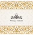 Background invitation vintage label floral frame vector image