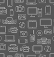 Different media devices seamless pattern vector image