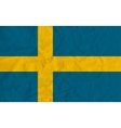 Sweden paper flag vector image