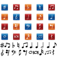 Music symbols and icons vector image vector image