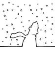 walking through snowy weather vector image vector image