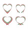 Abstract hearts with the colors of the Italian vector image