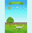 beautiful gardening vector image