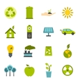 Ecology icons set flat style vector image
