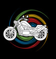 motorbike side view vector image