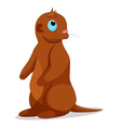 otters vector image