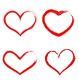 Set of hand drawn hearts Happy Valentines vector image
