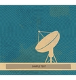 Radar translation Satellite dishes antena Retro vector image