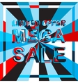 Big ice sale poster with LIMITED OFFER MEGA SALE vector image