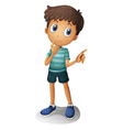 A young boy thinking vector image