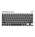 Latin alphabet keyboard layout set - Isolated vector image