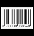 barcode isolated on black background vector image