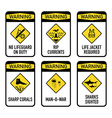 Open water warnings set II vector image vector image