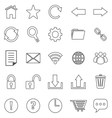 Tool bar line icons on white background vector image vector image