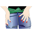 Woman in jeans vector image