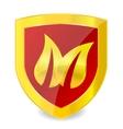 leaf emblem vector image vector image
