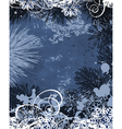 winter background all elements and textures are in vector image vector image