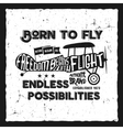 Vintage airplane lettering for printing vector image
