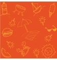 Summer of doodle art vector image