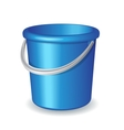 Blue plastic bucket isolated on white background vector image vector image