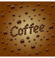 coffee drops background vector image