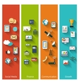 Collection of modern concept icons in flat design vector image