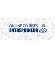 entrepreneur concept with business doodle design vector image