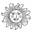 Hand Drawn Sun Symbol vector image
