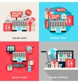 Internet Shopping Decorative Icon Set vector image