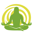 man figure meditating symbol vector image