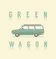 Side View Of Green Wagon vector image