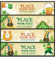 St. Patrick's Day banners vector image