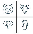 zoo icons set collection of duck moose trunked vector image