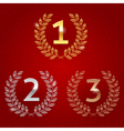 1st 2nd 3rd awards golden emblems vector image vector image